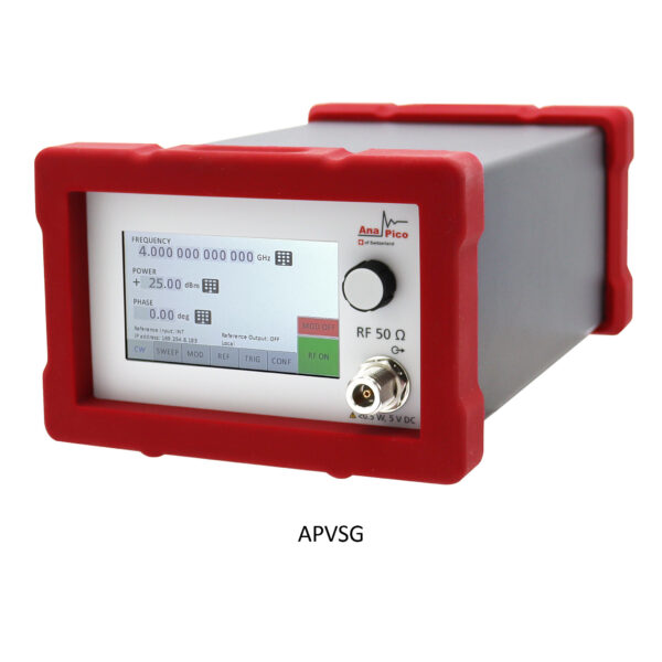 anapico vector signal generator black housing portable with color touch display and iq modulation