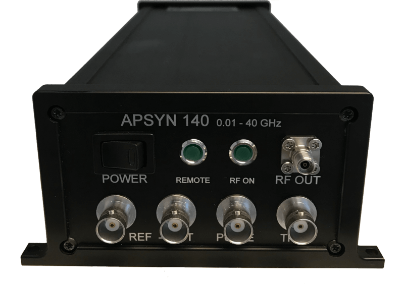 Anapico's APSYN140: Ultra-compact, fast and low power consumption ultra-wideband Frequency Synthesizer with USB & LAN interface